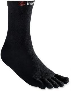 Injinji Performance Series Lightweight Crew Toe Socks Black Medium
