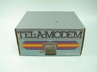 Tel A Modem Computer Telephone 2 Line Phone Vtg 1200 Baud Intelligent