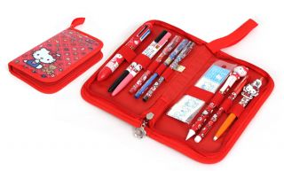 Hello Kitty Zipper Case Writing Instruments Set Pens Mechanical Pencil