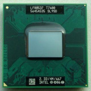 Intel Core 2 Duo Laptop cpu mobile T7600 SL9SD 4M Cache 2 33 GHz 667