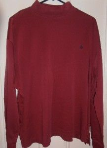 Ralph Lauren Golf Shirt Mens Size XL Red Long Sleeve Polo