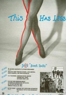 INXS Has Fishnet Stockings Legs 1991 Promo Poster Ad