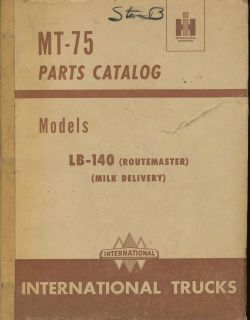 1950 IH INTERNATIONAL TRUCK PARTS CATALOG MANUAL MT75 LB14 MILK