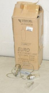 Vaxcel Lighting Euro Mini Pendant Hanging Light Taffy Swirl Nickel