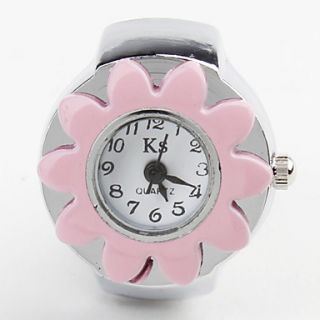USD $ 2.59   Womens Alloy Analog Quartz Ring Watches (Silver),