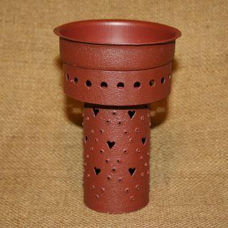 Red Heart Punched Tin Insert Pint Mason Jar Tart Bowl