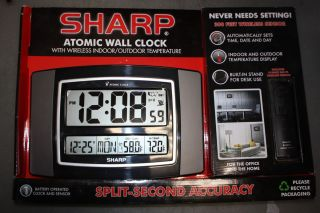Indoor Outdoor Temperature Atomic Clock Large Digital SPC900GM