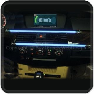 Strip BLUE LED Light Strip Panel Dash Board Interior under Car Rear QQ