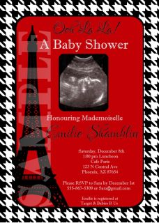 Custom Photo Baby Shower Invitations Any Theme