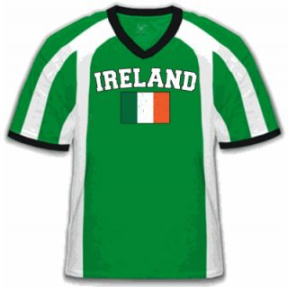 Ireland Soccer T Shirt Irish Flag Football Jersey Tee