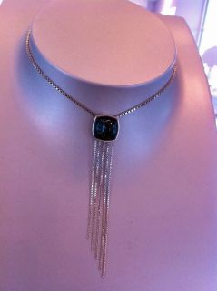 Baccarat Medicis Black Amethyst Scarabee 925 Silver CHAINS necklace