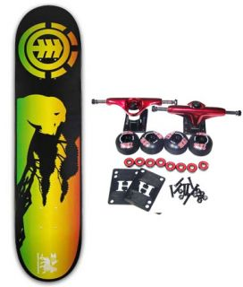 Element Skateboards Complete Skateboard Rasta Irie 7 5
