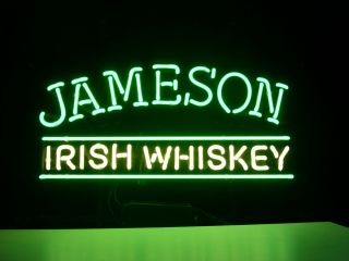 New Jameson Irish Whiskey Real Neon Light Beer Bar Pub Sign