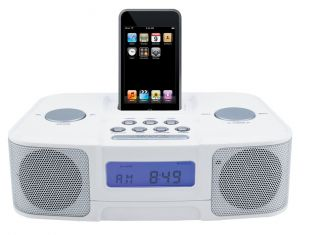 Naxa iPod Docking Station with Am FM Radio and Digital Alarm Clock Ni