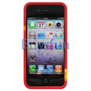 Christmas Father and Gift Style Gel Case Cover for Apple iPhone 4 4G