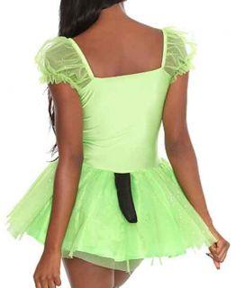 Invader Zim Gir Green Glitter Dress Ear Headpiece Costume Cosplay