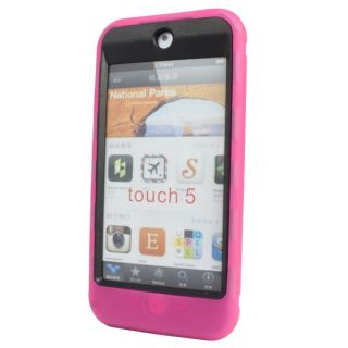 Deluxe Hybrid Black Hard Case Cover for iPod Touch 5th 5g HP