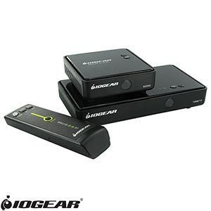 IOGEAR Wireless HDMI Transmitter Receiver 3D Ports HDTV Home Office A