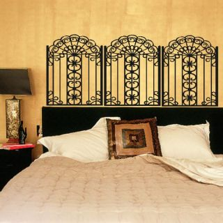 Iron Gate Headboard Vinyl Wall Decal Decor