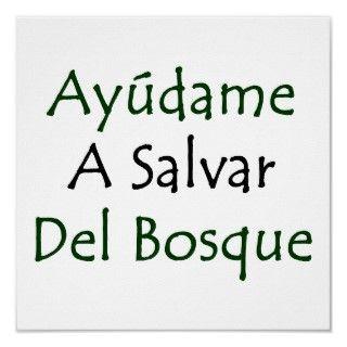 Diviertete con nuestro diseno Ayudame A Salvar Del Bosque.