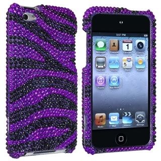 Zebra Rhinestone Bling Case Cover for iPod Touch 4th Generation