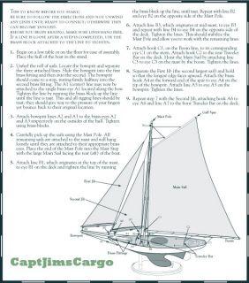 Nautical Antiqued Yacht Ironsides Wooden Model Sailboat