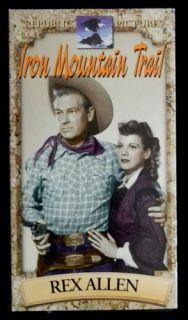 Iron Mountain Trail Rex Allen 1999 VHS 1953 Republic Pictures Very
