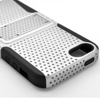 For iPod Touch 5 5th 5g Gen Fishnet Hybrid Silicone Hard Case Black