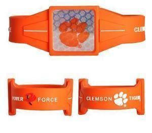 NEW Clemson Tigers Ionic Bracelet Balance 7.5 Power Force Hologram