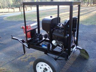 Irrigation Trash 3 Water Pump Wisconsin Motor Driven Trailer Mounted