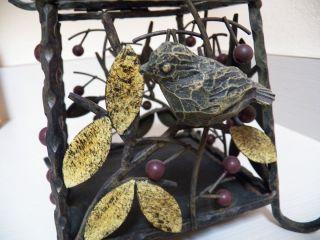 Cast Iron 3D Bird Cage Candle Holder Decoration