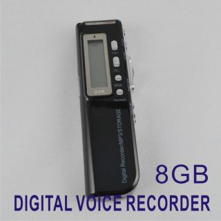New 8GB 650Hr Digital Voice Recorder Dictaphone  Player