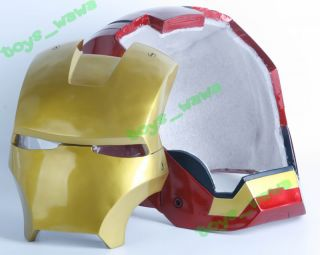 K42D Painted IRON MAN 1:1 MAGNETIC Opened/Light/Wearable Rusin Helmet