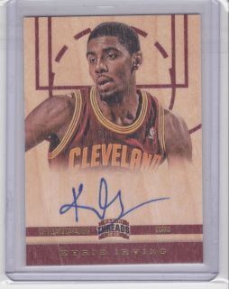 2012 13 Panini Threads Kyrie Irving Auto on Card Autograph