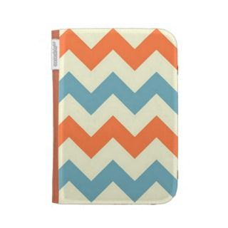 Orange blue chevron zigzag stripes zig zag pattern kindle keyboard