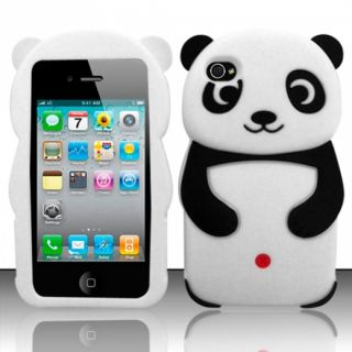 For iPhone 5 (AT&T/Sprint/Verizon/Cricket) 3D Panda Bear Silicon Case