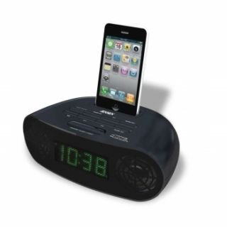 iPOD iPHONE DOCK DOCKING STATION DUAL ALARM CLOCK RADIO MUSIC SPEAKER