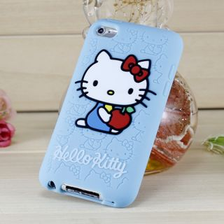 iPod Touch 4 4th Generation Hello Kitty Silicone Rubber Case Baby Blue