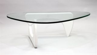 Isamu Noguchi Coffee Table with White Base High Quality Reproduction