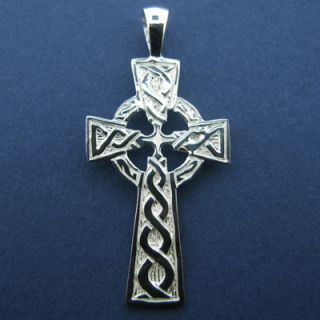 Silver Celtic Cross Irish jewelry jewellery High Cross 925 Pendant