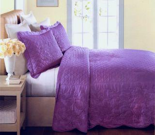 Martha Stewart Pressed Flowers Iris Purple Quilted Standard Sham