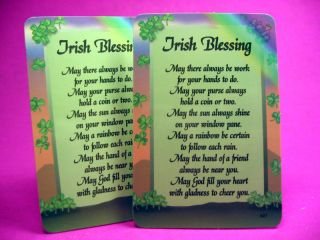 Irish Blessing 2 Verse Cards SKU 202