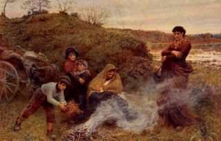 FREDERICK WALKER Print Vagrant IRISH Tinker GYPSY Mother & Children