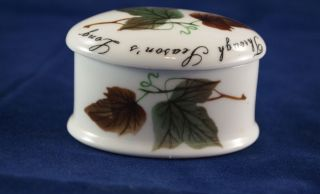 Vintage Royal Adderley Floral Trinket Box in Bone China, made in