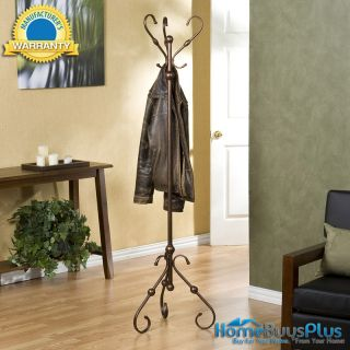 Isobel Hall Tree Coat Hat Rack Foyer Office Entryway Bronze Metal