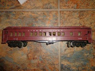 Lionel Irvington Passenger Car 2625 Unbroken But Needs Paint