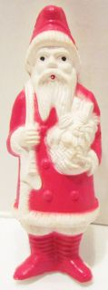 Santa Claus Celluloid Christmas Figure by Irwin 1940S
