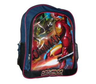 Iron Man Kids Boys School Large 16 Backpack Bag + Bottle Water NEW