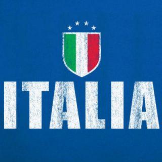 Italia T Shirt Jersey Italy Vintage Flag New Soccer M
