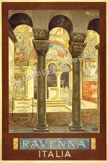 Ravenna Italy 1920s Classic Italian Travel Poster 16x24